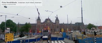 Центральная станция в Амстердаме